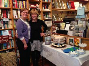 Margot Sage-El with Christina Baker Kline, author of the bestselling novel, Orphan Train.