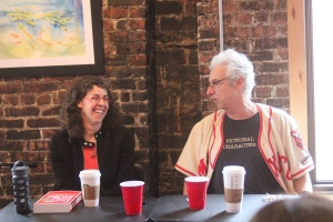 The Book Doctors: Arielle Eckstut and David Henry Sterry at The Writers Circle on March 13, 2016.